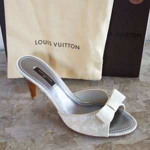 Authentic Louis Vuitton Cream Monogram Heels